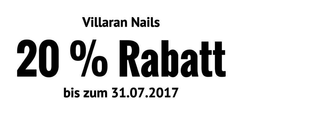 20 % Rabatt bei Villaran Nails - Zur Neueröffnung des Nagelstudios in Gelsenkirchen